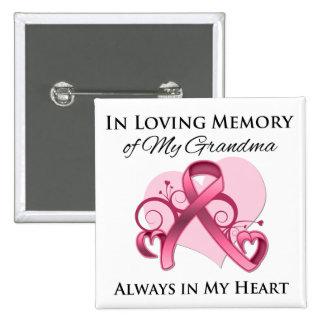 In Memory of My Grandma - Breast Cancer Pins