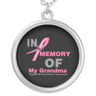 In Memory of My Grandma - Breast Cancer Necklace