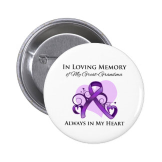 In Memory of My Great-Grandma - Pancreatic Cancer Button