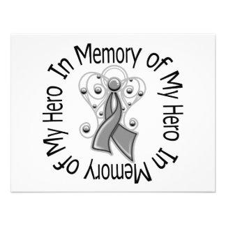 In Memory of My Hero Brain Tumor Angel Wings Invite