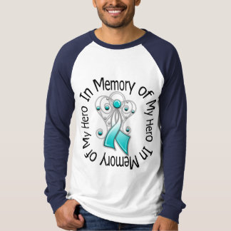 In Memory of My Hero Cervical Cancer Angel Wings Shirts