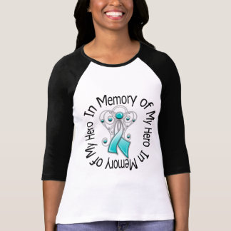 In Memory of My Hero Cervical Cancer Angel Wings T-shirt