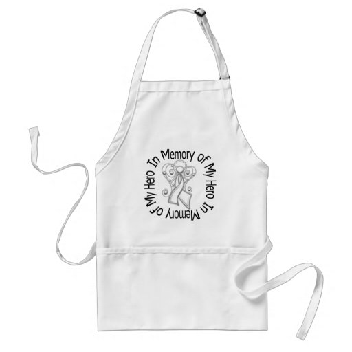 In Memory of My Hero Lung Cancer Angel Wings Aprons