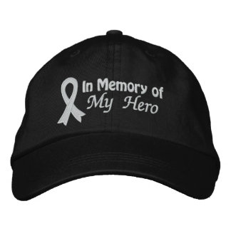 In Memory of My Hero - Lung Cancer Embroidered Hat