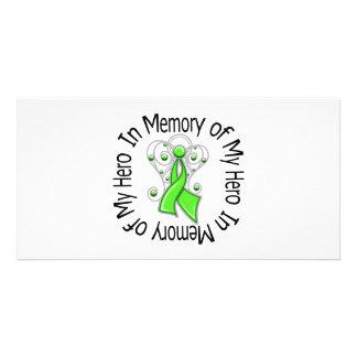 In Memory of My Hero Lymphoma Angel Wings Photo Cards