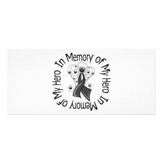 In Memory of My Hero Skin Cancer Angel Wings Personalized Rack Card