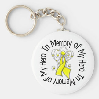 In Memory of My Hero Suicide Prevention Basic Round Button Key Ring