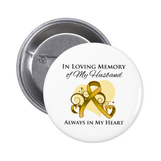 In Memory of My Husband - Appendix Cancer Pinback Button