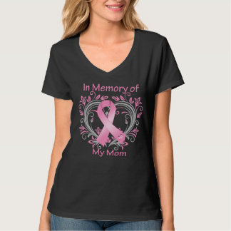 In Memory of My Mom Breast Cancer Heart T-shirt