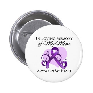 In Memory of My Mom - Pancreatic Cancer Pinback Button