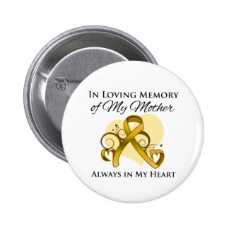 In Memory of My Mother - Appendix Cancer Button