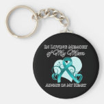 In Memory of My Mum - Ovarian Cancer Basic Round Button Key Ring