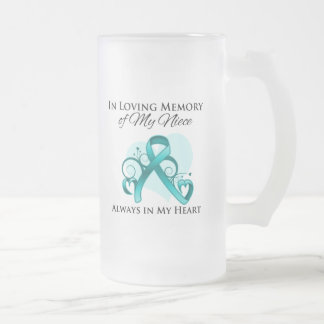 In Memory of My Niece - Ovarian Cancer Frosted Glass Mug