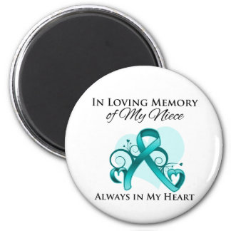 In Memory of My Niece - Ovarian Cancer Fridge Magnet