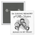 In Memory of My Sister - Brain Cancer Buttons