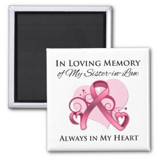 In Memory of My Sister-in-Law - Breast Cancer Square Magnet