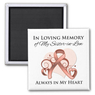 In Memory of My Sister-in-Law - Uterine Cancer Square Magnet
