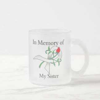 In Memory of My Sister - Lung Cancer Frosted Glass Coffee Mug