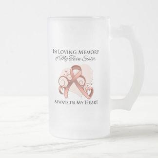 In Memory of My Twin Sister - Uterine Cancer Coffee Mugs