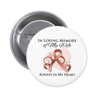 In Memory of My Wife - Uterine Cancer Button
