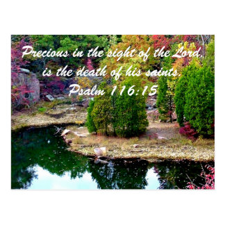 In Memory of Psalm 116:15 Postcard