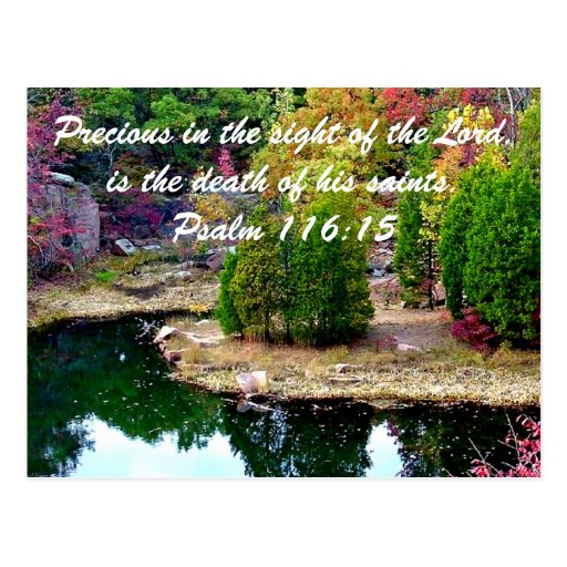 In Memory of Psalm 116:15 Post Card