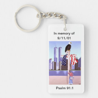 In Memory of September 11th, 2001 Single-Sided Rectangular Acrylic Key Ring