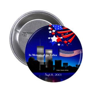 In Memory of the Fallen Sept 11 Memorial Button