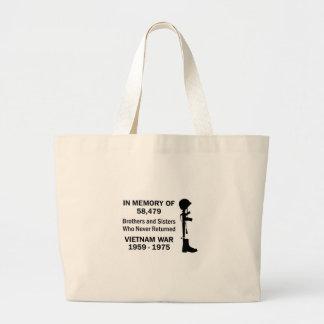 In Memory Of Vietnam Jumbo Tote Bag
