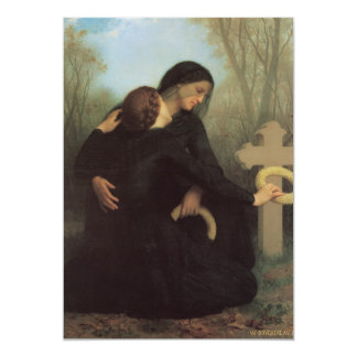 In Mourning 5x7 Paper Invitation Card