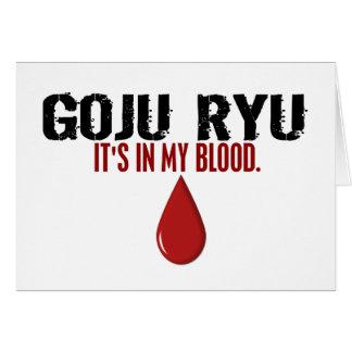 In My Blood GOJU RYU Card