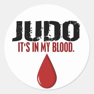 In My Blood JUDO Round Sticker
