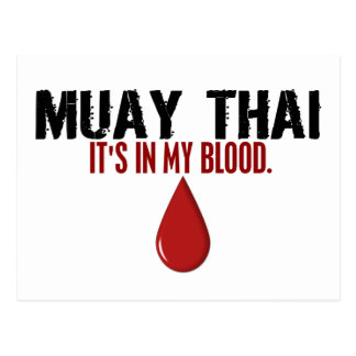 In My Blood MUAY THAI Post Card