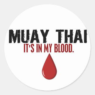 In My Blood MUAY THAI Round Sticker