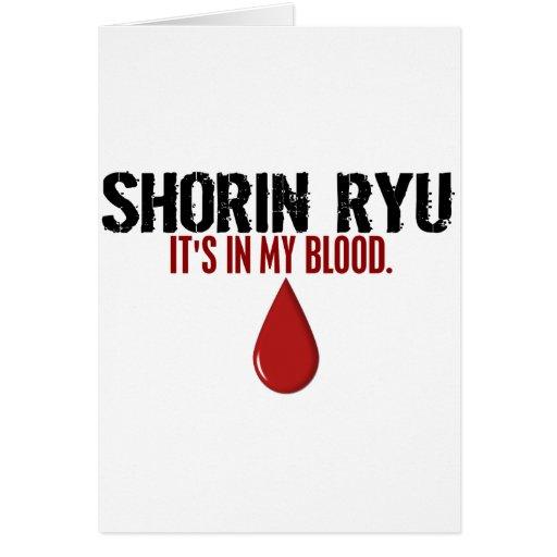 In My Blood SHORIN RYU Cards