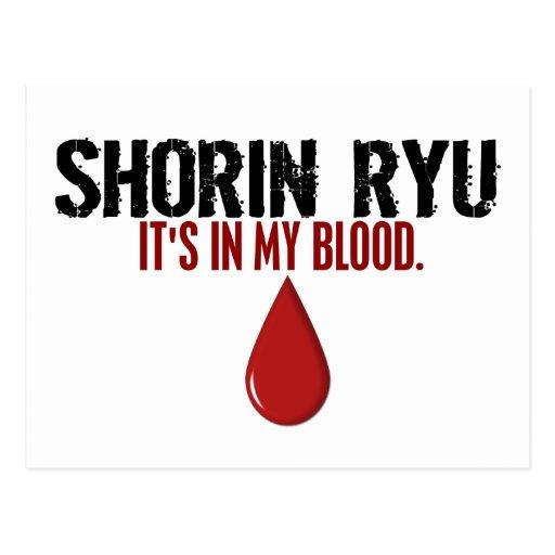 In My Blood SHORIN RYU Postcard