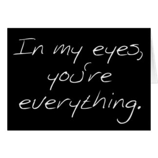 """IN MY EYES YOU ARE """"EVERYTHING"""" MERRY CHRISTMAS GREETING CARD"""