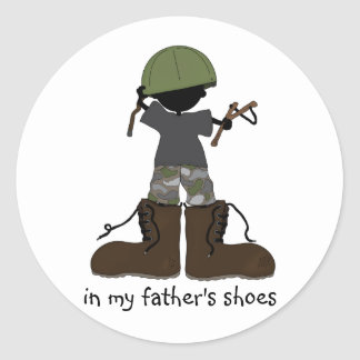 In My Father's Shoes... Round Sticker