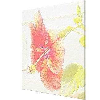 In My Garden, Embossed Hibiscus Flower Gallery Wrap Canvas