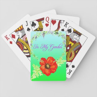 In My Garden Floral Pattern Playing Cards