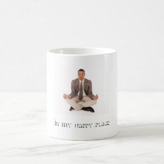 In my happy place. basic white mug