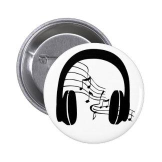 In my Head Badge Music through headphones.