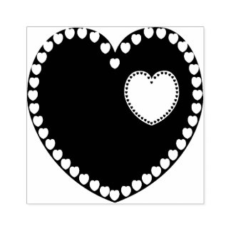 In My Heart Rubber Stamp