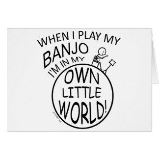 In My Own Little World Banjo Card