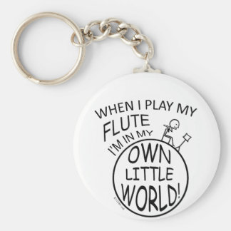 In My Own Little World Flute Key Ring