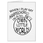 In My Own Little World Harpsichord Card