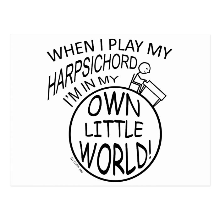 In My Own Little World Harpsichord Postcard