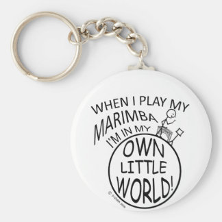 In My Own Little World Marimba Basic Round Button Key Ring