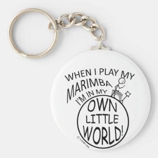 In My Own Little World Marimba Basic Round Button Key Ring