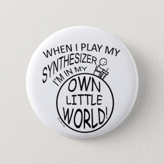 In My Own Little World Synthesizer 6 Cm Round Badge